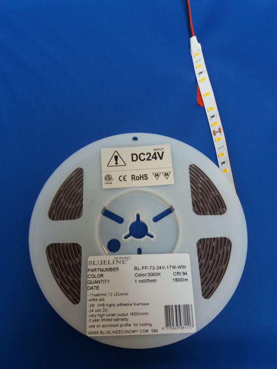 blueline high power led strip 19w 2500lm ra90 ho 3000k 24v
