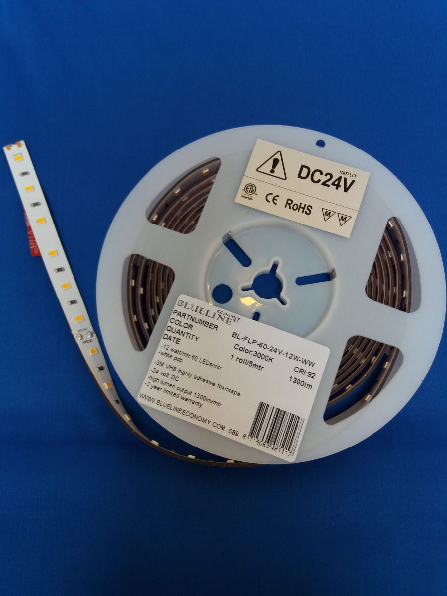 blueline low power led strip 96w 1400lm ra90ho3000k 24v