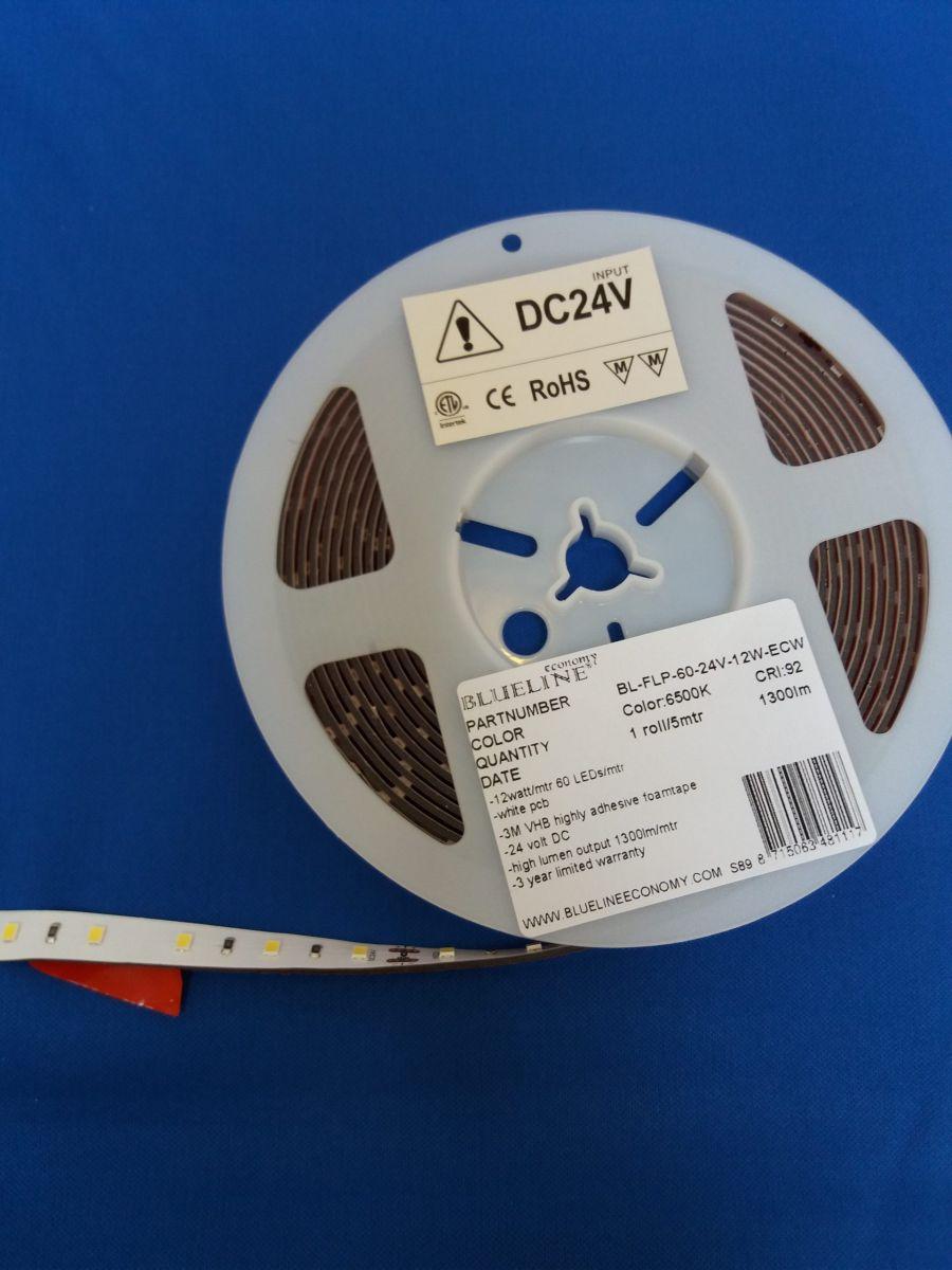 blueline low power led strip 96w 1600lm ra90ho6500k 24v