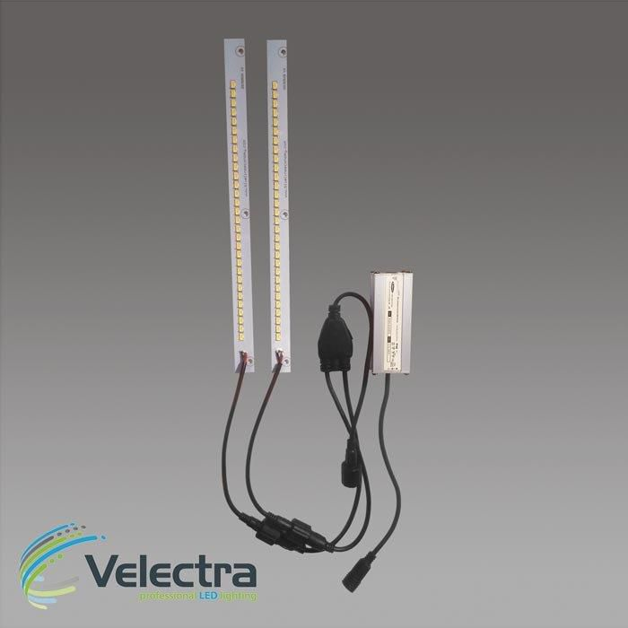 duo set 2x led modulen 3000k 27 cm 150 lmw leds seriekabel 1000ma driver 2280 lumen