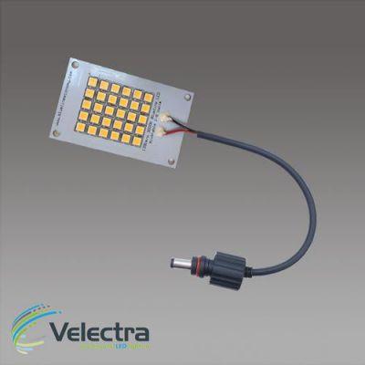 led modulen 3000k 5x 8 cm 150 lm/w leds + 350mA driver 440 lumen