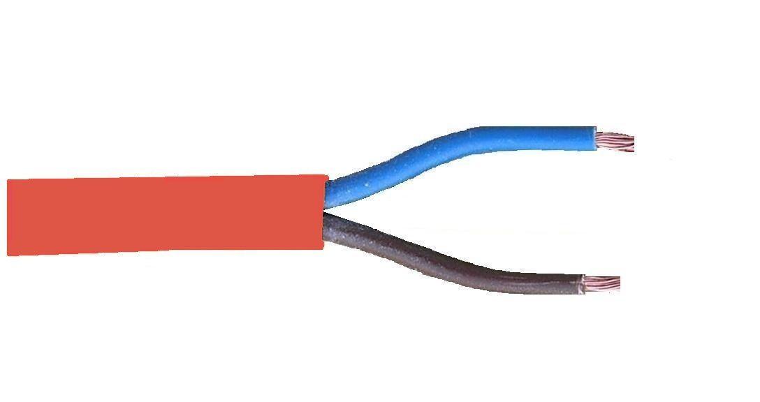 red kabel 2x 075mm2 180graden rol 100 mtr